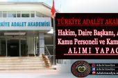 Ayrıntılarıyla Türkiye Adalet Akademisi Personel Alımı