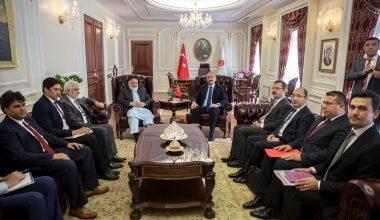 Bakan Gül, Afganistan Adalet Bakanı Enver'i Ağırladı