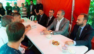 Adalet Bakanı Gül, Merhum Av. Hüseyin Yama'nın Ailesine Taziye Ziyaretinde Bulundu
