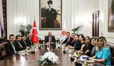 Adalet Bakanı Gül, Ankara Barosu Heyetini Kabul Etti