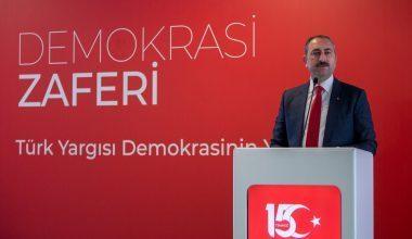"""Adalet Bakanlığınca Ankara Hakimevinde """"Demokrasi Zaferi, Türk Yargısı Demokrasinin Yanında"""" Programı Düzenledi"""