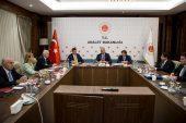 """Adalet Bakanı Gül ve T.  Barolar Birliği Başkanı Feyzioğlu Hakimevinde Düzenlenen """"Yargı Reformu Strateji Belgesi"""" Toplantısında Bir Araya Geldi"""