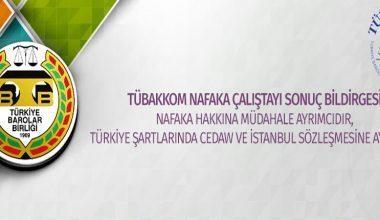 Türkiye Barolar Birliği Kadın Hukuk Komisyonu Nafaka Çalıştayı Sonuç Bildirgesi Yayınlandı