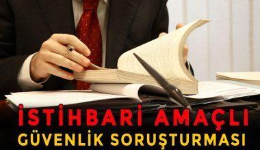 İstihbari Amaçlı Güvenlik Soruşturması ve Arşiv Araştırması
