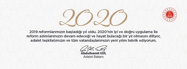 Adalet Bakanı Abdülhamit GÜL'den Yeni Yıl Mesajı