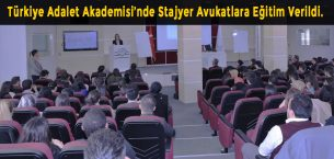 """Türkiye Adalet Akademisi'nden Stajyer Avukatlara """"Soruşturmada Koruma Tedbirleri, Genel Savcılık İşlemleri"""" Eğitimi"""