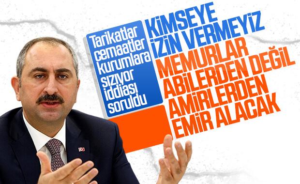 Adalet Bakanı Gül'e 'Tarikatlar ve Cemaatler Kurumlara Sızıyor' İddiası Soruldu