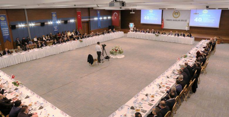 40. Baro Başkanları Toplantısı Gerçekleştirildi