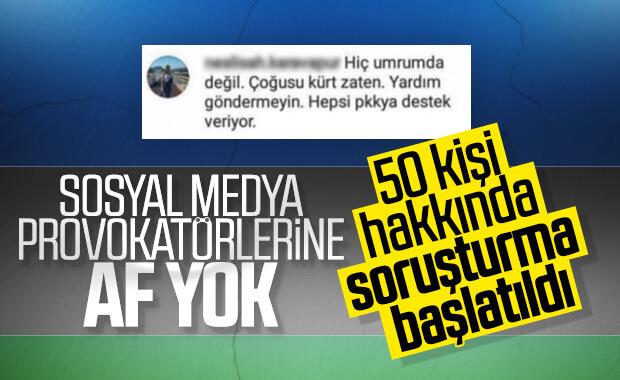 Provokatif Paylaşım Yapan 50 Şüpheli Hakkında Soruşturma