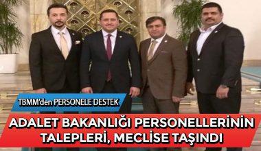 Adalet Bakanlığı Personellerinin Talepleri Meclise Taşındı