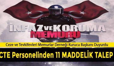 Cezaevi Memurlarından 11 Maddelik Talep