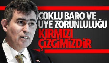 """TBB Başkanı Feyzioğlu: """"Üye Zorunluluğu Kırmızı Çizgimizdir"""""""