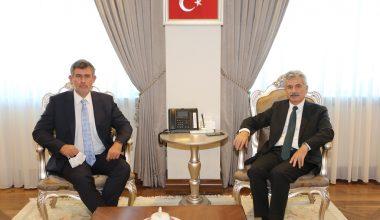 TBB Başkanı Feyzioğlu, Danıştay Başkanı Zeki Yiğit'i Makamında Ziyaret Etti