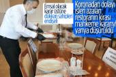 Korona Sebebiyle İşleri Azalan Restoranın Kirası Yarıya Düşürüldü